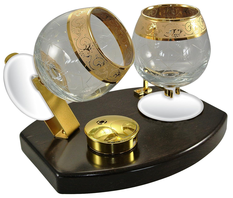 Cowa 600103 - Scalda brandy, cognac, Armagnac con bicchiere in vetro. Credansa