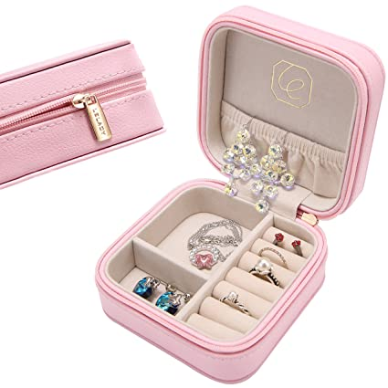 Amazoncom JL LELADY JEWELRY LELADY Small Jewelry Box Portable