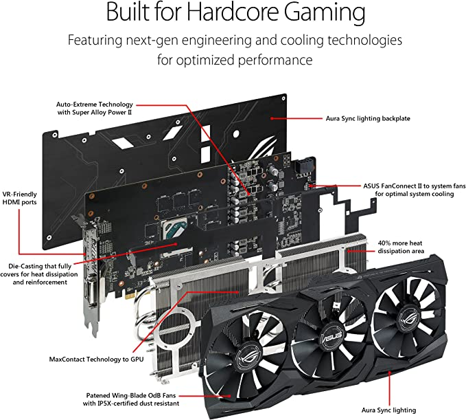 Amazon.com: ASUS Radeon RX Vega 64 - Tarjeta de vídeo (8 GB ...