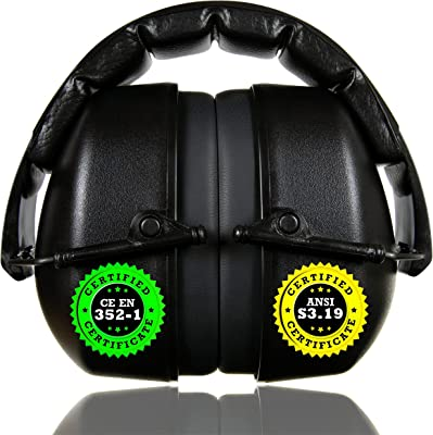 Hearing Protection Safety Ear Muffs Folding