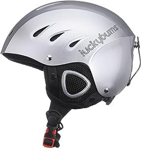 Lucky Bums Snow Multi Sport Helmet, Silver, XL
