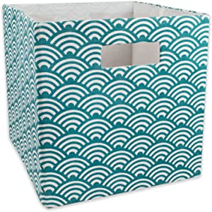 DII Hard Sided Collapsible Fabric Storage Container for Nursery, Offices, & Home Organization, (13x13x13