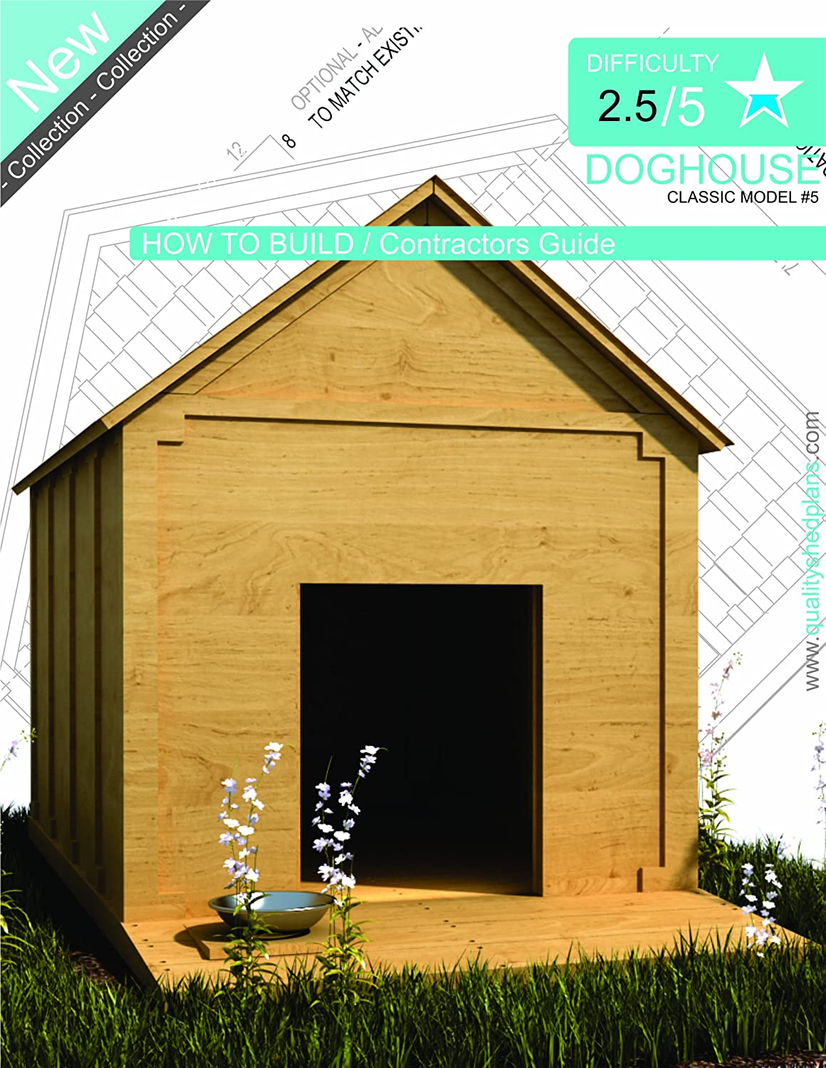 DOG HOUSE PLANS How To Build a Doghouse Guide 05 by ShedPlans4u Step By Step CAD Drawings