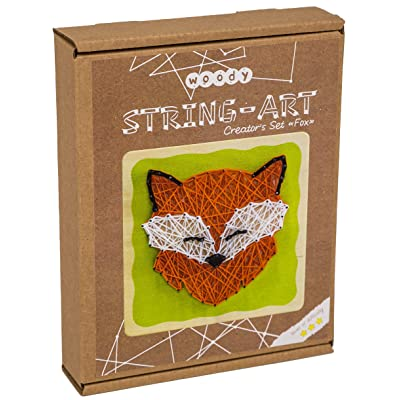 Eco-Friendly String Art Kit Natural Wood – Fox Gift – Craft Kit for Kids and Adults - 1 Large String Art Canvases, Home Décor: Toys & Games