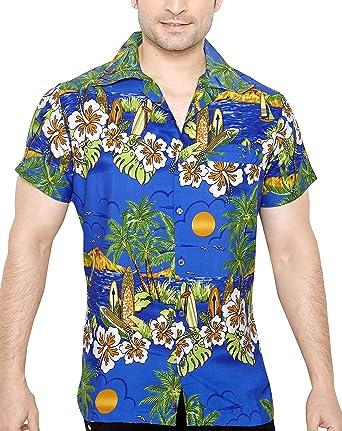TROPICAL VIBES Camisa Hawaiana Florar Casual Manga Corta Ajustado para Hombre XXL: Amazon.es: Ropa y accesorios
