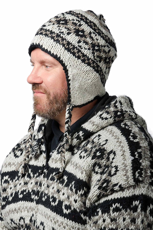 TCG Men s Hand Knit Wool Vintage Pattern Sherpa Hat at Amazon Men s ... 8fd57dd0727