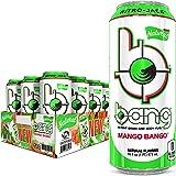 Bang Natural Mango Bango Energy Drink, 0 Calories and Sugar Free, 16 Fl Oz (Pack of 12)