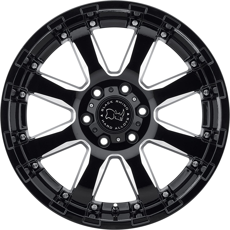 BLACK RHINO SIERRA 20x9.0 6//135 ET12 CB87.1 GLOSS BLACK W//MILLED SPOKES
