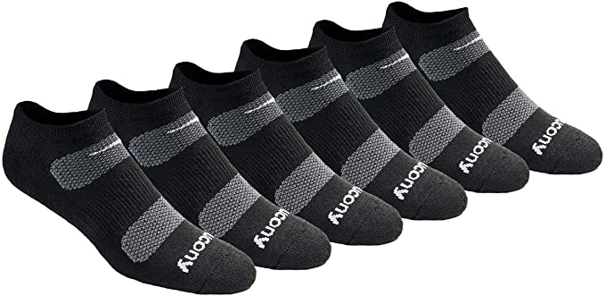Saucony Men's Multi-pack Mesh Ventilating Comfort Fit Performance No-show Socks   Amazon