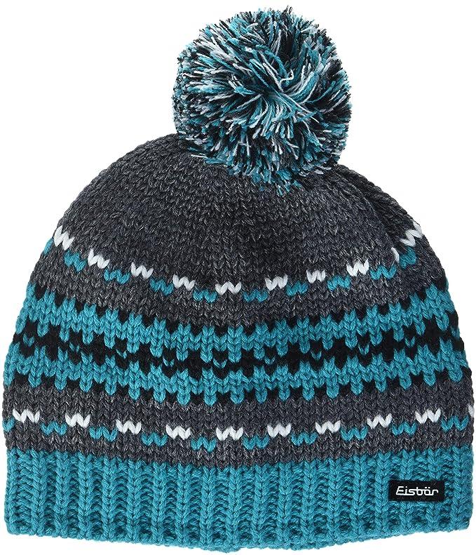 Eisbär Montel Enfant Bonnet Pompon S Blau Graumele Gelb White  Amazon.fr   Sports et Loisirs 776431587fb