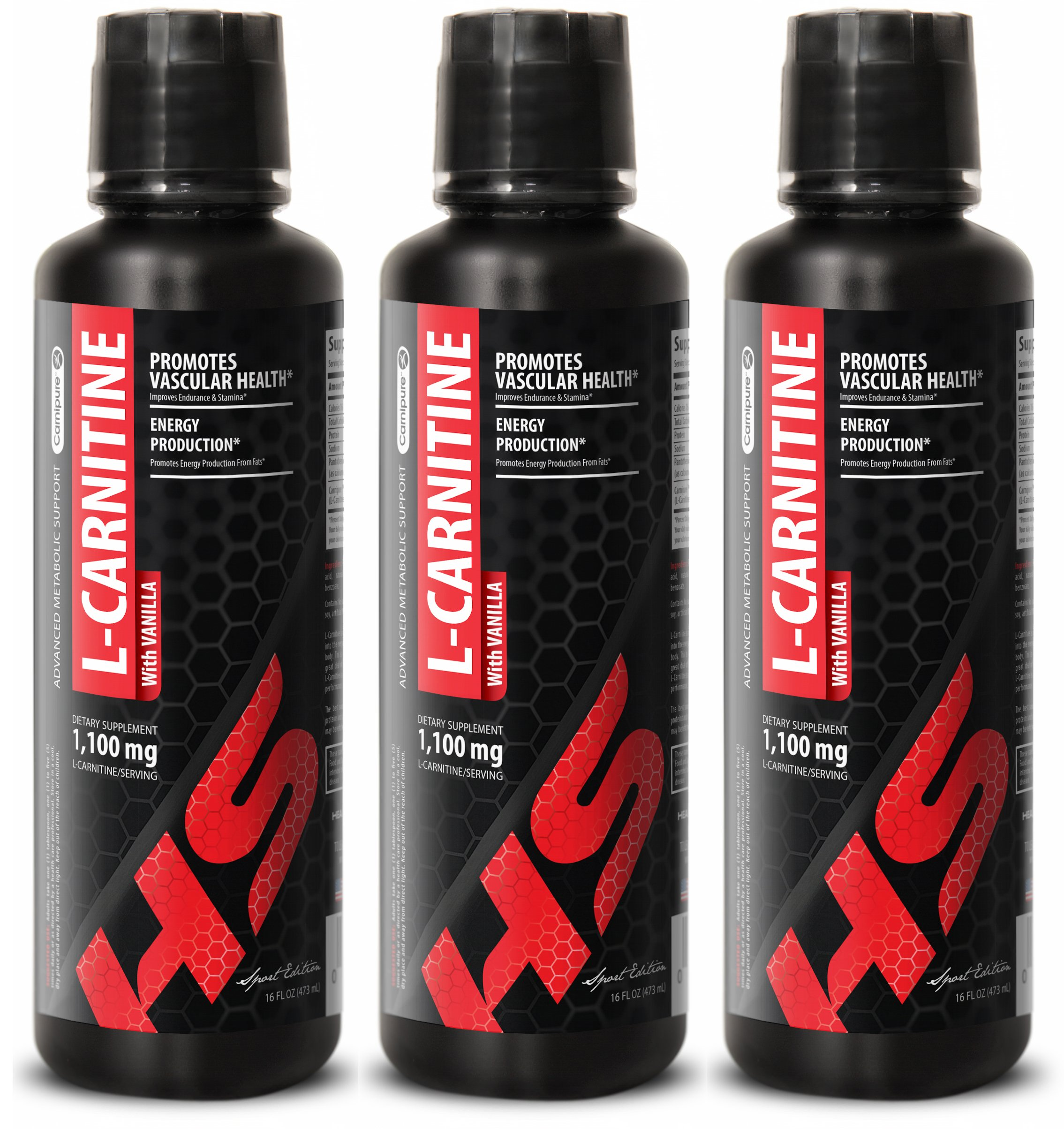 energy supplement drink - L-Carnitine 1,100MG - metabolism liquid - 3 Bottles (48 FL OZ)