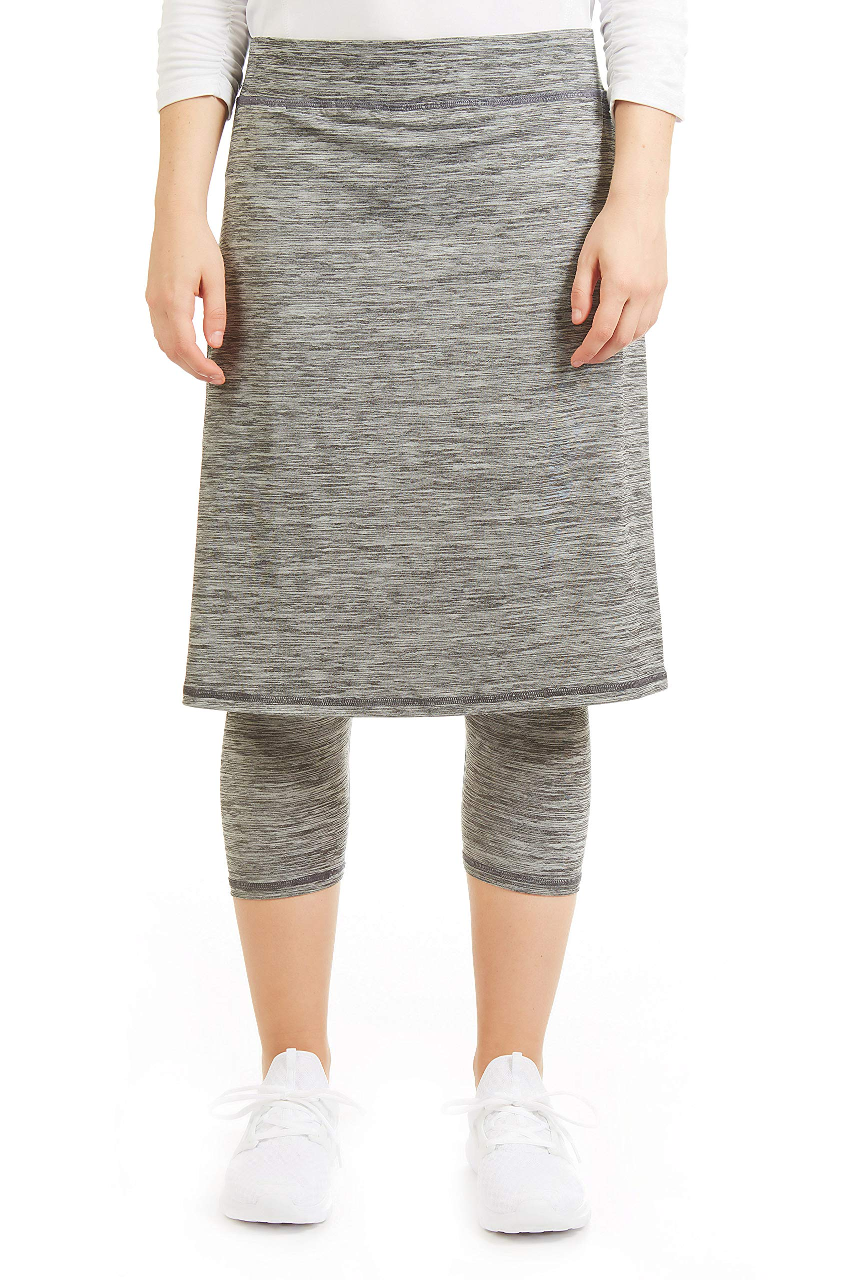 Snoga Athletics Modesty Workout Pencil Skirt with Capri Leggings - Black, S