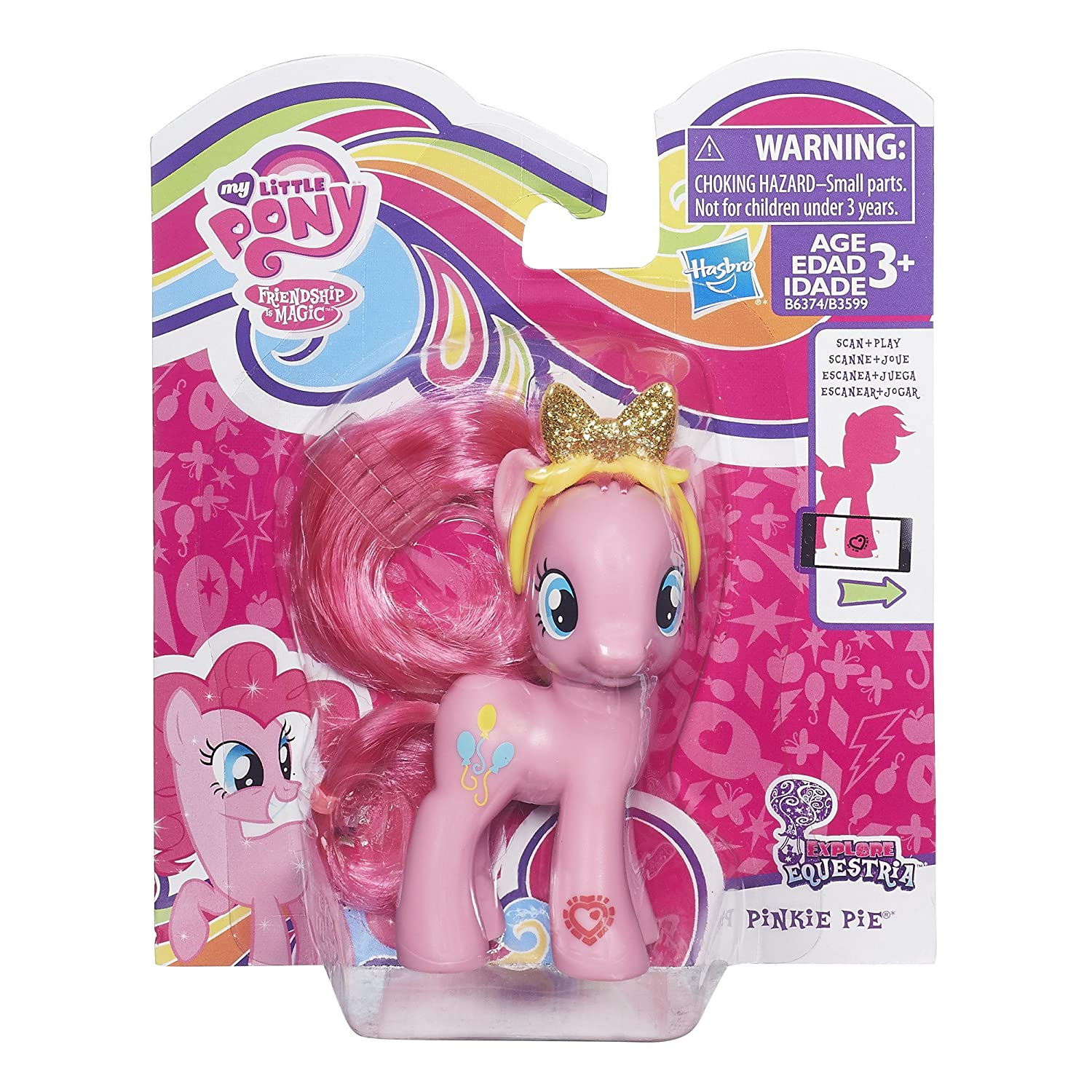 My Little Pony Friendship Is Magic Pinkie Pie Figure Luggage Tag Toys Games
