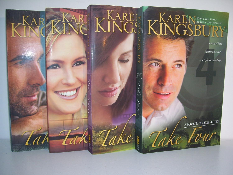 Karen Kingsbury Above the Line Series Complete--Take One// Take Two// Take Three// Take Four--Paperback