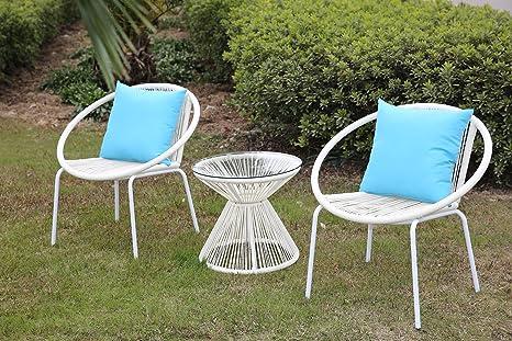 Angel Living KD 3 pièces de mobilier de jardin,salon de ...