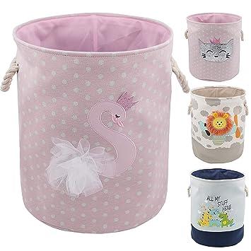 Organiseur de jouets pour chambre denfant jouets et linge Paniers de rangement pliables en toile avec poign/ées