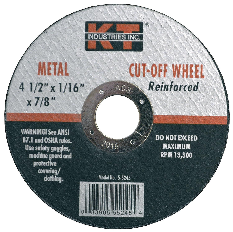 K-T Industries 5-5246 Cutting Wheel 4-1//2 x 1//8 x 7//8