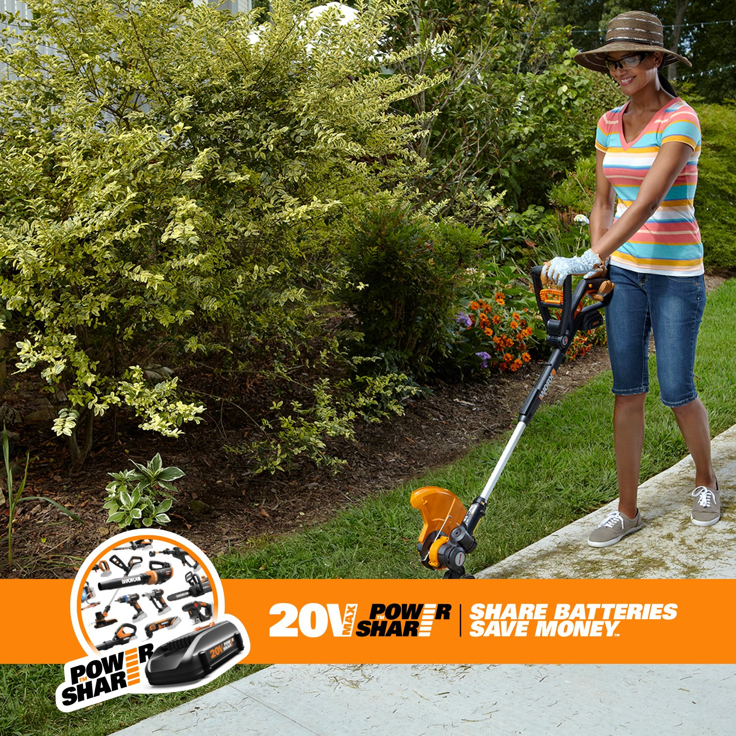WORX GT 2 0 WG160 Cordless Lithium Grass Trimmer Edger and Mini