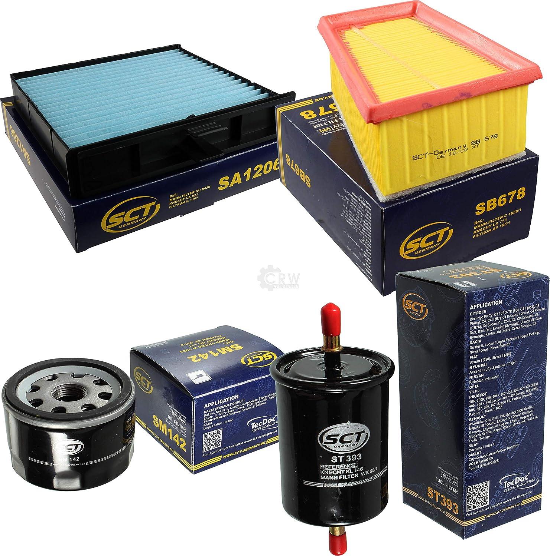 Sct Inspektions Set Inspektionspaket Innenraumfilter Kraftstofffilter Luftfilter Ölfilter Auto