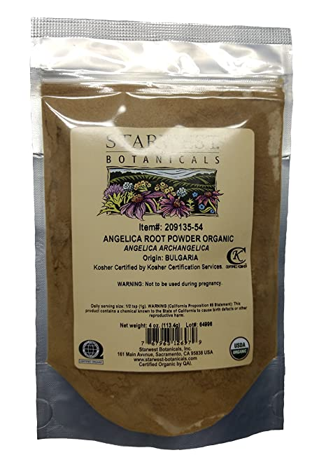 Angelica Root Powder Organic - Starwest Botanicals