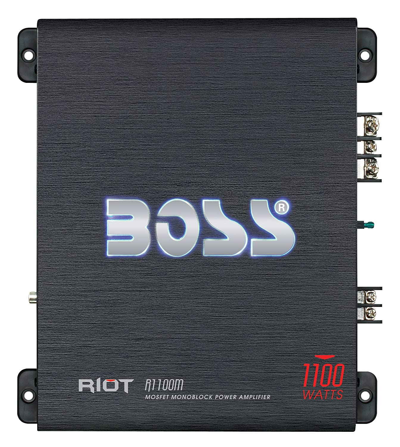 BOSS Audio R1100M Riot 1100 Watt, 2/4 Ohm Stable Class A/B, Monoblock, Mosfet Car Amplifier with Remote Subwoofer Control