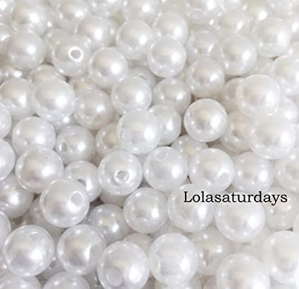 Amazon Lolasaturdays Pearls 1 Lbs Loose Beads Vase Filler 10mm