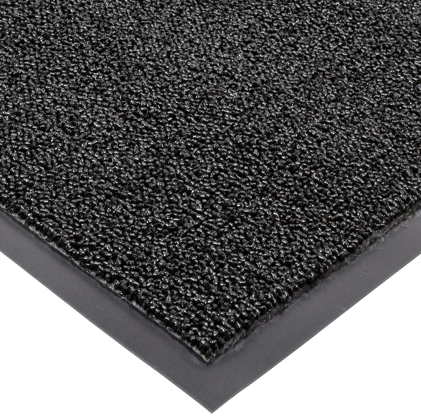 Notrax Non-Absorbent Fiber 231 Prelude Entrance Mat, for Outdoor and Heavy Traffic Areas, 2' Width x 3' Length x 1/4'' Thickness, Black