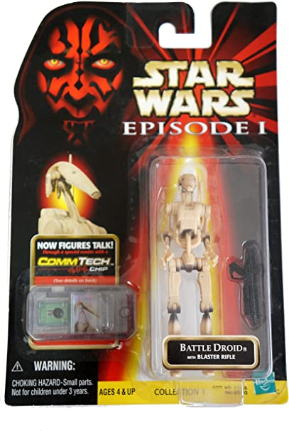 ~ CommTech by Hasbro not in hand Star Wars Episode I ~ OOM-9 with Blaster and Binoculars