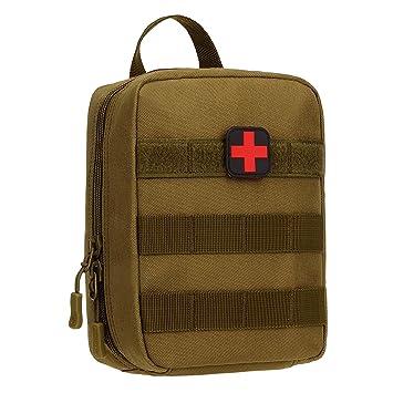 Huntvp táctica Bolsa MOLLE Pouch pequeña Bolsillo de Primeros Auxilios Impermeable Bolsa de Emergencia Mini Médica Botiquín para Caza Correr Camping ...