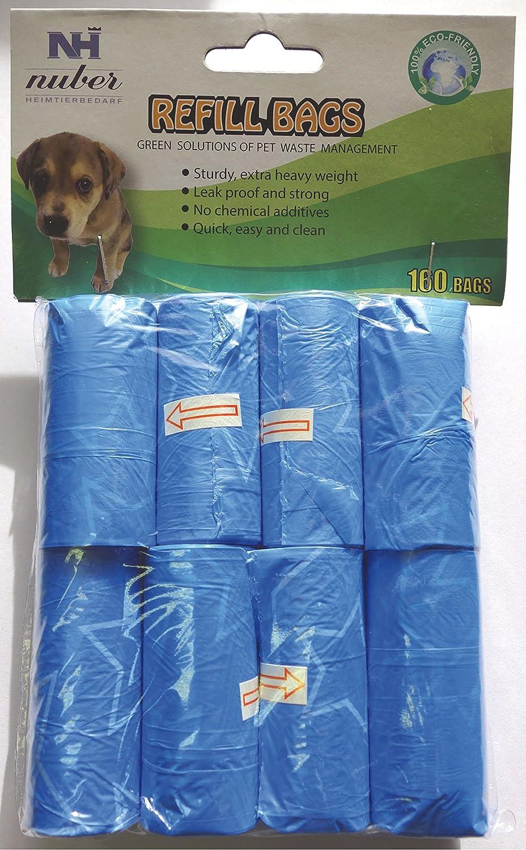 160x Gassibeutel Hundekotbeutel Kotbeutel Kottüten Hundetoilette Gassitüten blau FVP