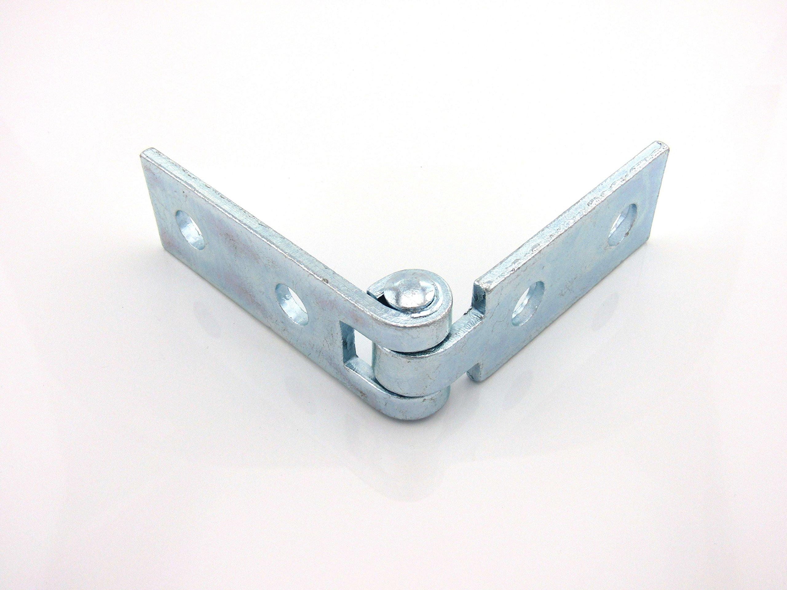 4-Hole Adjustable Hinge; E.G. Side, 1/2 X 3/4 Stud Other Side Plain (25 per box)