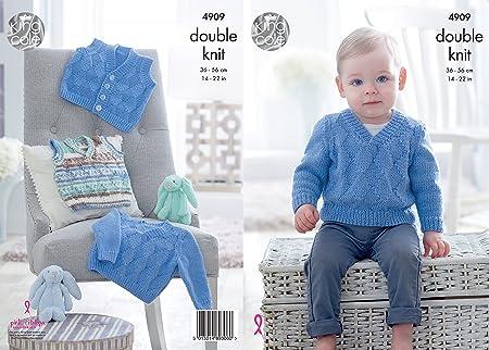 4ca65a89f King Cole 4909 Knitting Pattern Baby Tank Top Sweater   Waistcoat in ...