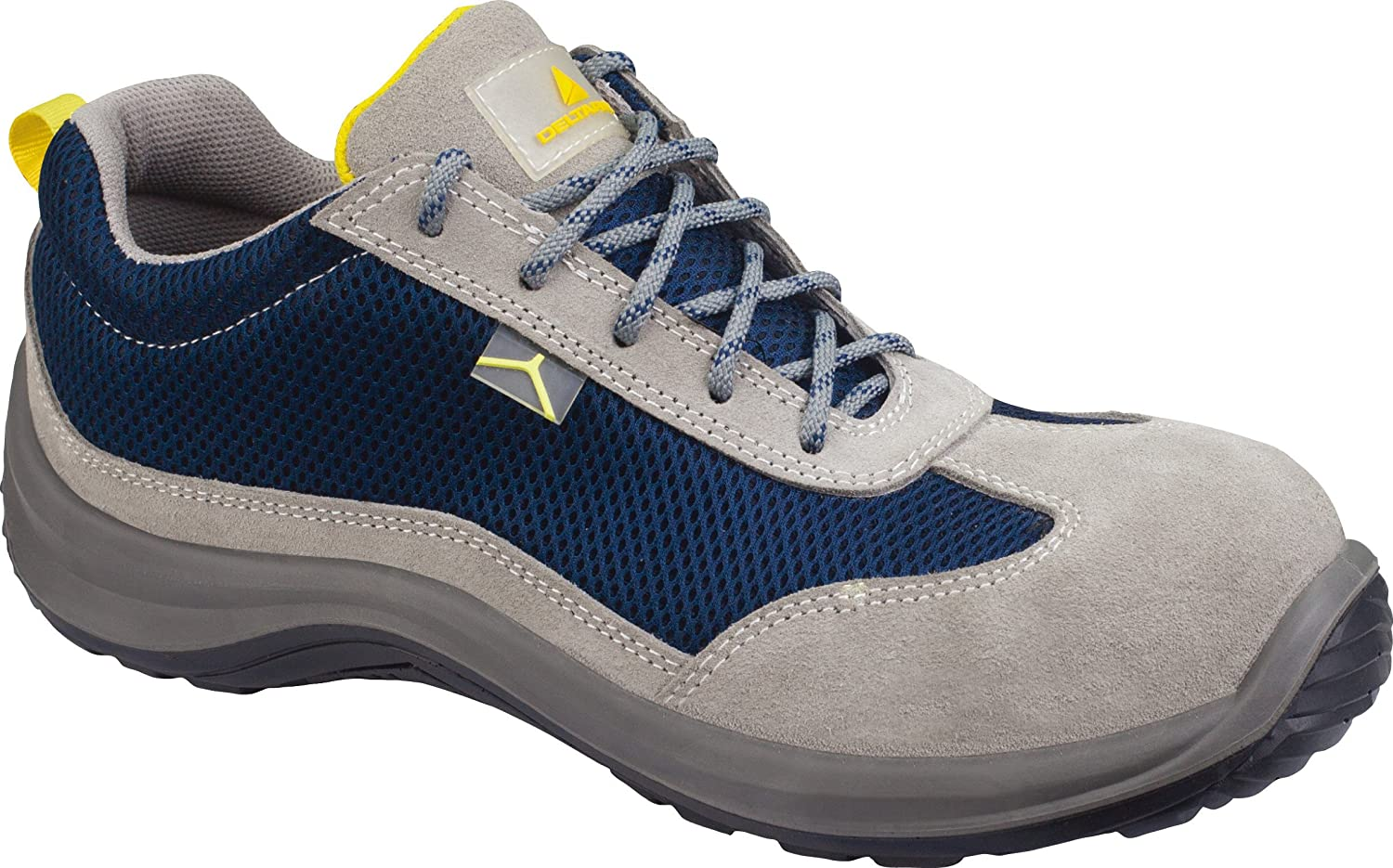 Delta Plus Fennec III S1P Grey Suede Leather Steel Toe Safety Trainers Shoes PPE