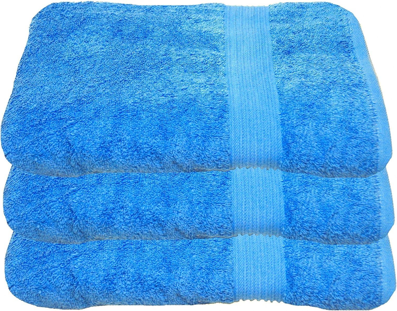 Julie julsen 3/unidades/ 70/x 140/cm Disponible en colores 23/suave y absorbente 500/GSM /Öko Tex, algod/ón, turquesa, 70 cm x 140 cm /Toalla de ducha