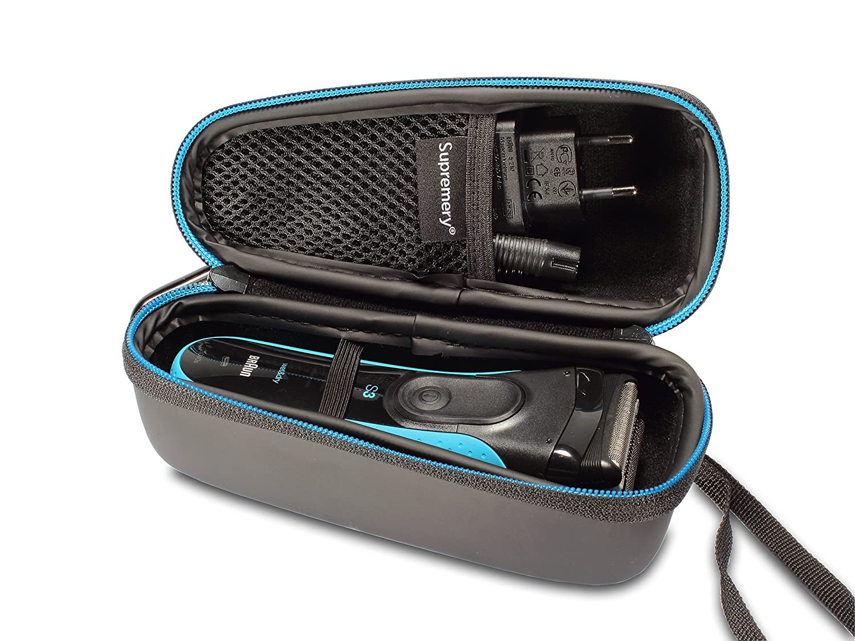 Supremery Bolsa para Braun Serie 3 340s-4 390cc-4 320s-4 3030s 3090cc 3040s rasurador Eléctrico Caja Envoltura Protectora Estuche Bolsa de Transporte 5742