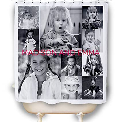 Personalized Photo Collage Shower Curtain