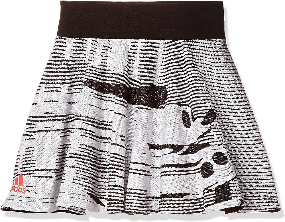 adidas LG Dy TM Falda de Tenis, Niñas, (Blanco/Negro/rojbri), 98 ...