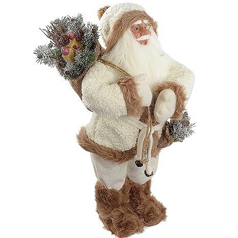 Amazon.com: WeRChristmas – 23.6 inch de pie Papá Noel con ...