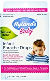 Hyland's Baby Infant Earache Drops, Natural Homeopathic Relief of Ear Pain and Irritability, 0.33 Ounce