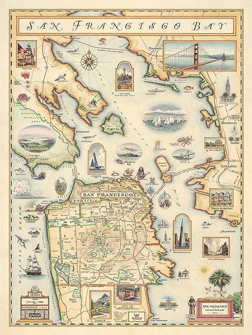 Xplorer Maps San Francisco Bay Map Art Print on mykonos on world map, hue on world map, fremont on world map, kano on world map, gdansk on world map, babylon city on world map, altamira on world map, kauai hawaii on world map, chicago on world map, montreal on world map, longyearbyen on world map, mexico city on world map, buenos on world map, new york on world map, charles town on world map, tokyo on world map, california on world map, disneyland on world map, canberra on world map, sanaa on world map,