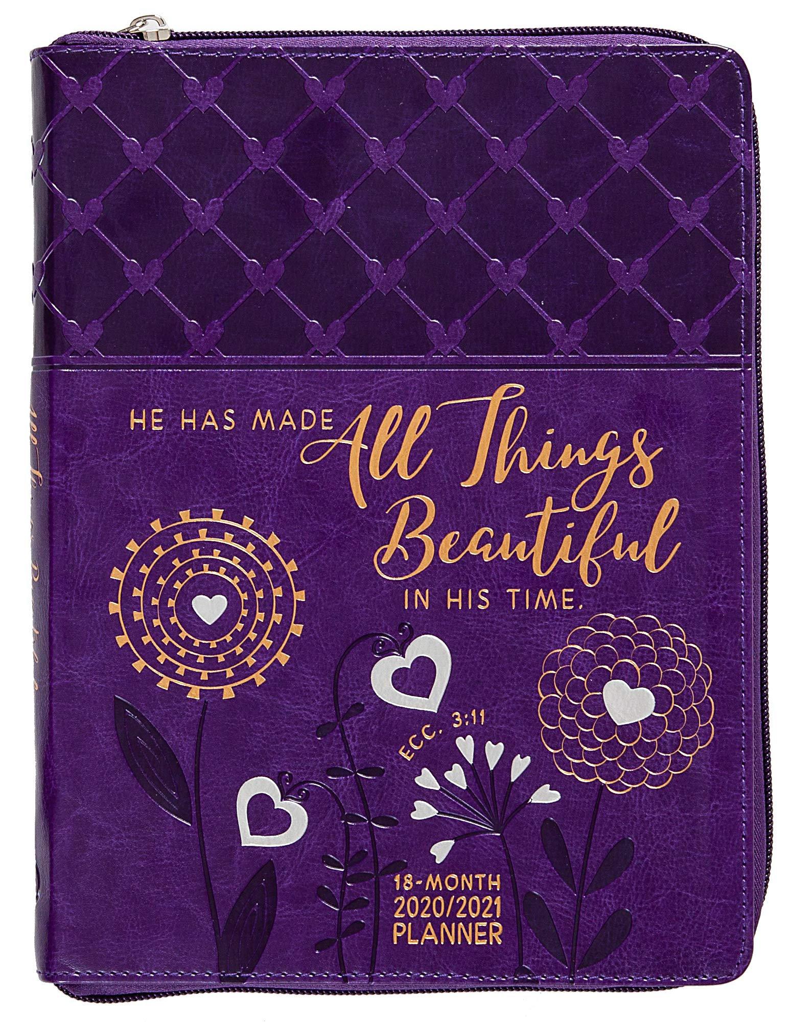 2021 All Things Beautiful 18-Month Planner with Zipper