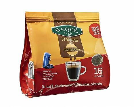 Cafés Baqué Monodosis Natural - 16 Monodosis: Amazon.es ...