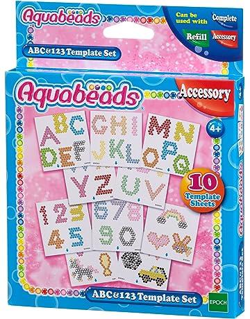 Aquabeads 30518 ABC y 123 vorlage Juego de Manualidades Escuela