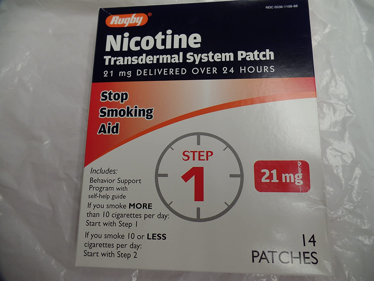 Amazon.com: RUGBY NICOTINE TRANSDERMAL SYSTEM PATCH STEP 1 21mg OPAQUE:  Health & Personal Care