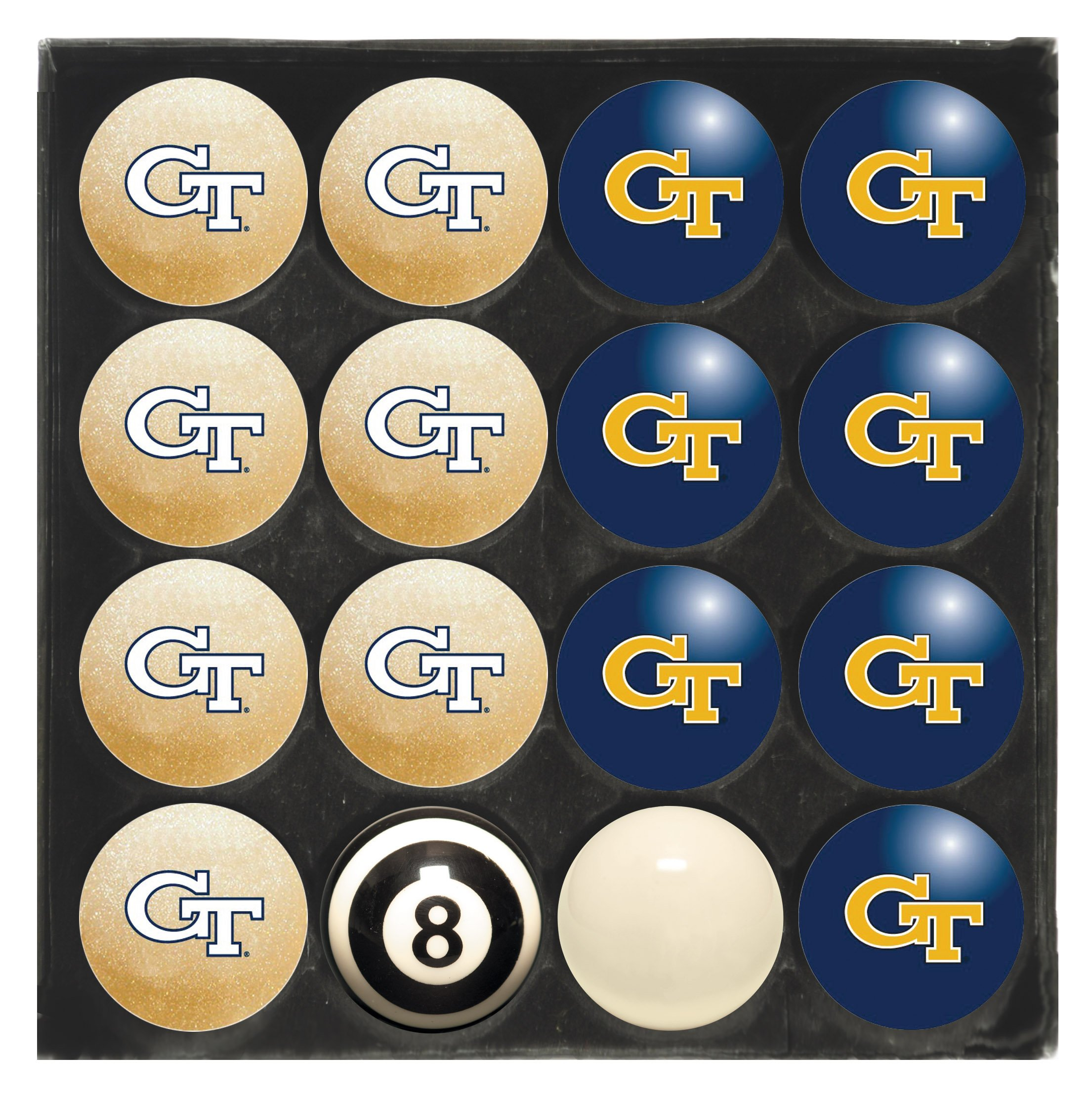 Imperial Officially Licensed NCAA Merchandise: Home vs. Away Billiard/Pool Balls, Complete 16 Ball Set, Georgia Tech Yellow Jackets