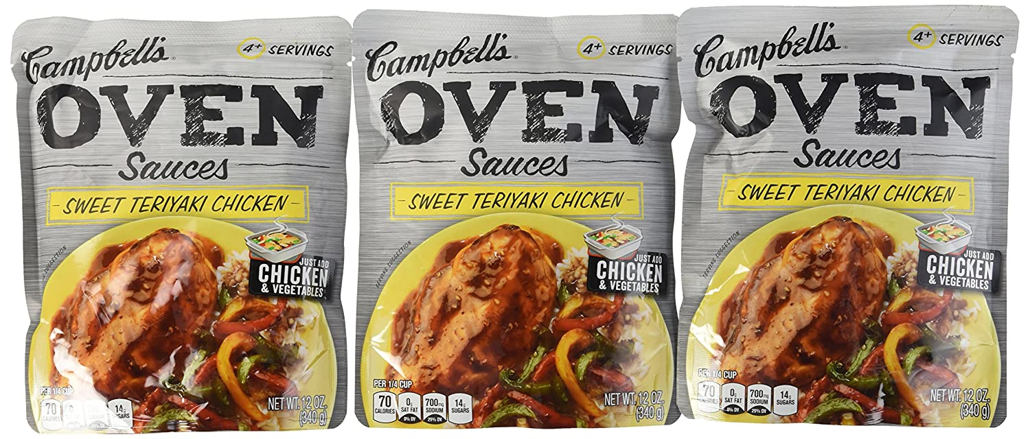 Campbell's Oven Sauces Sweet Teriyaki Chicken, 12 ounces (Pack of 5)