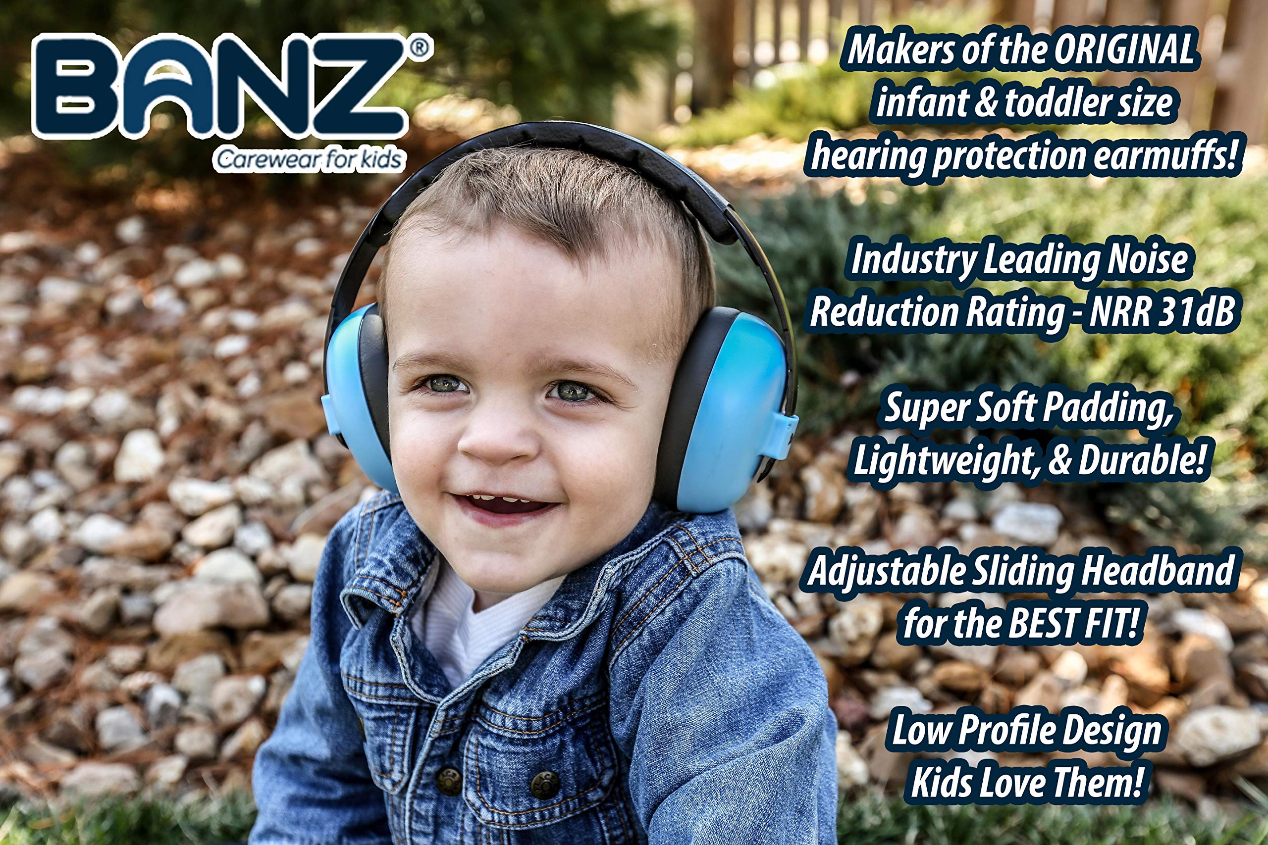 Baby Banz Earmuffs Infant Hearing Protection – Ages 0-2+ Years – The Best Earmuffs for Babies & Toddlers – Industry Leading Noise Reduction Rating – Soft & Comfortable – Baby Ear Protection