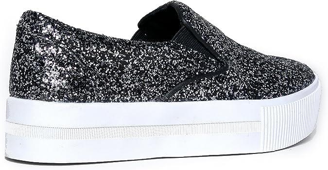 Elastic Casual Sparkle Flat Shoe