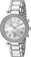 U.S. Polo Assn. Women's Quartz Silver-Toned Dress Watch (Model: USC40172)