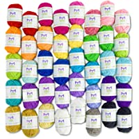 Mira Handcrafts 40 Assorted Colors Acrylic Yarn Skeins
